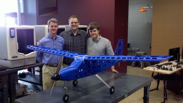 3D Printed plane flies with speed 45 mph
